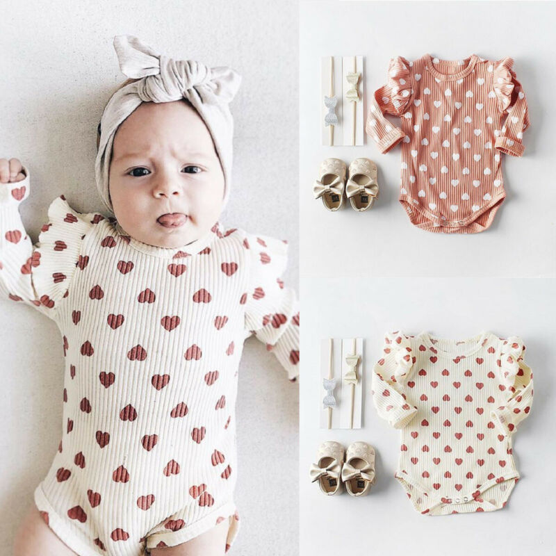 PUDCOCO Cute Newborn Infant Baby Girl Clothes Ruffle Long Sleeve Romper Jumpsuit Outfit 0-18M