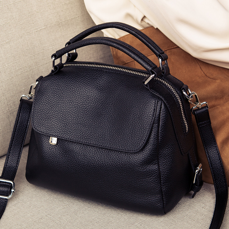 High Quality Cow Leather Tote Pillow Small Bag Lady Genuine Leather Women Handbags Women Shoulder Bags For Women Messenger Bags
