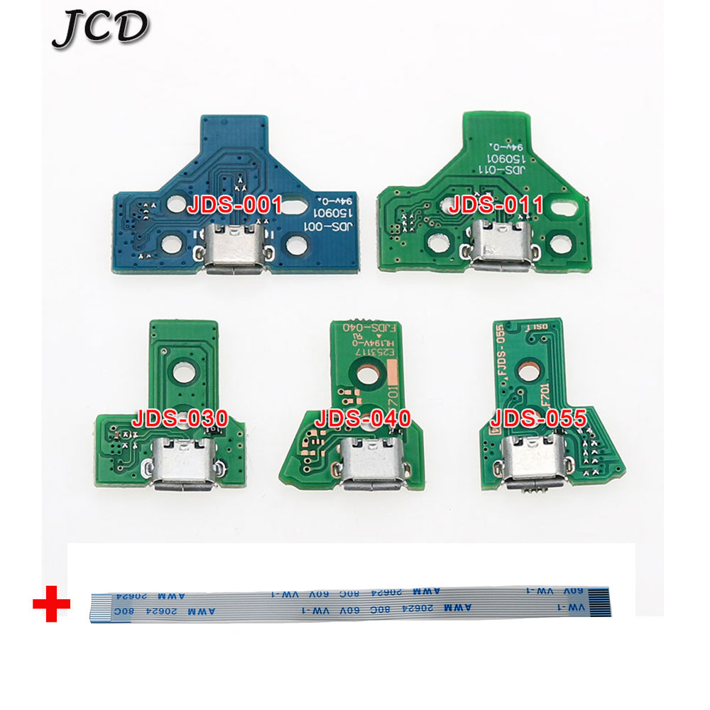 JCD For PS4 Controller USB Charging Port Socket Circuit Board 14Pin JDS-001,12Pin JDS-011 030 040 050 Connector For PS4 Pro Slim