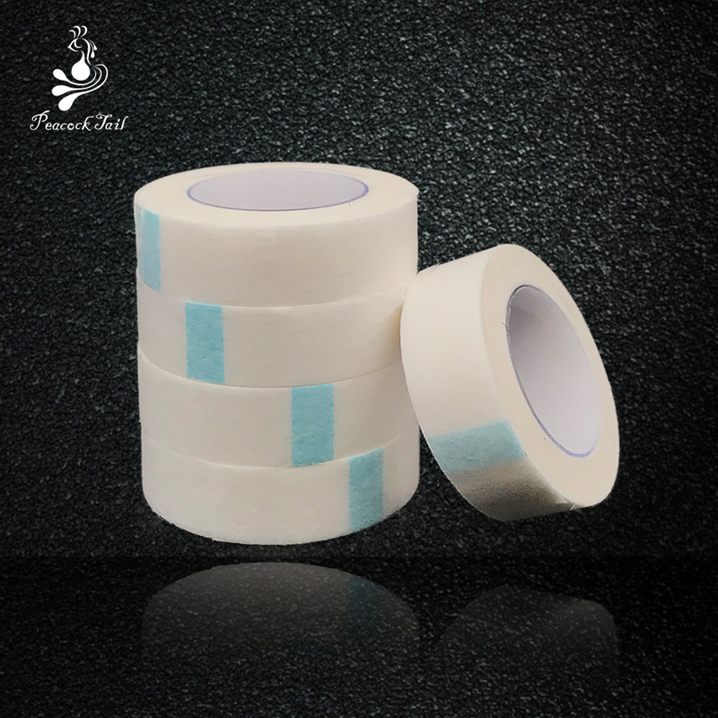 Tape For Eyelash Extension Nedical Breathable Non-woven Tapes Under Patch Tools To Protect Under Eyelashes Peacock Tail 5pcs/lot