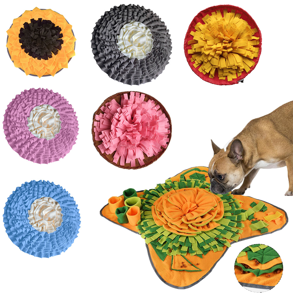 Pet Dog Sniffing Mat Toy Find Food Training Blanket Puppy Interactive Game Toys Detachable Relieve Puzzle Pet Nose Pad Products