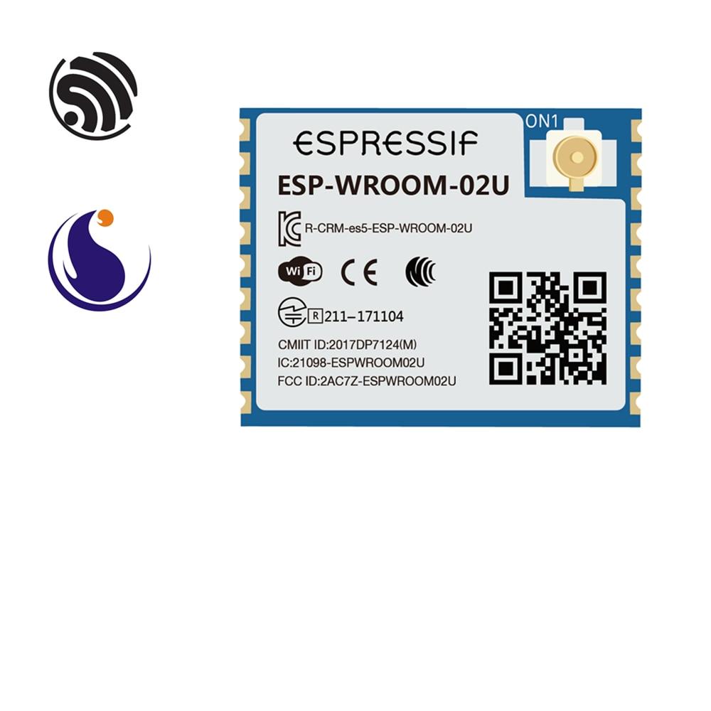 ESP-WROOM-02U Espressif Systems SoC Single-core 2.4 GHz Wi-Fi Module ESP8266EX Chip AIoT Smart Home Internet Of Things