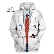 PLstar Cosmos DOCTOR Uniform Costume 3d hoodies/shirt/Sweatshirt Winter autumn funny Christmas Halloween cosplay streetwear