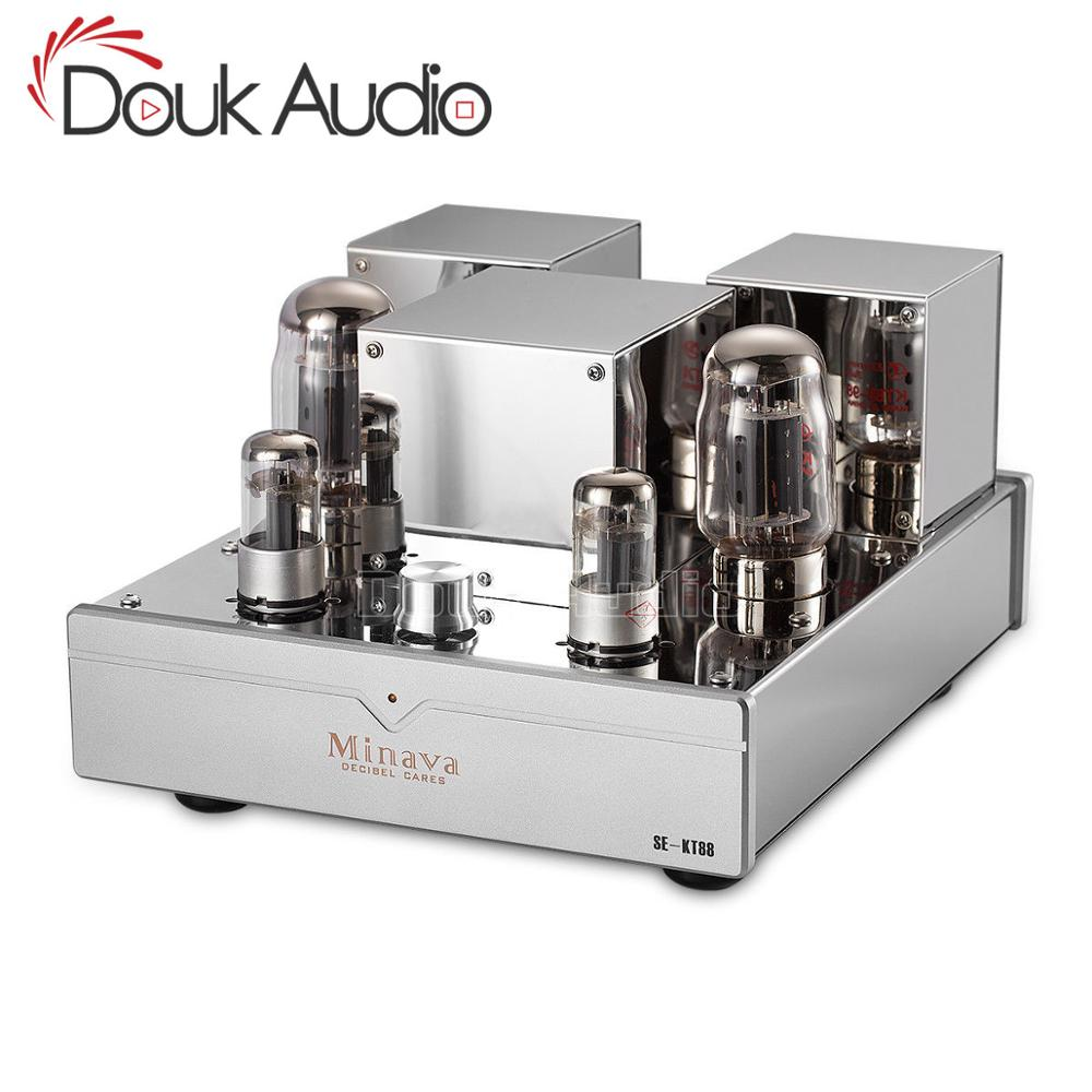 Douk Audio HiFi Audio High-end Power Verstärker KT88 Single-ended Integrierte Vakuum Rohr Verstärker Klasse A 12W + 12W