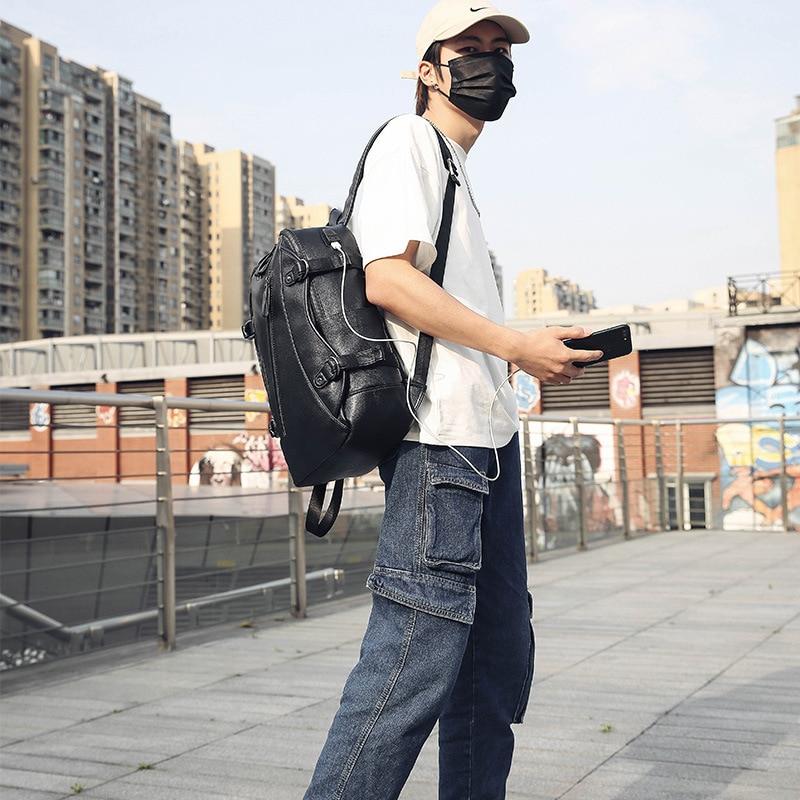 Version coréenne de sac à dos hommes sac à dos lycée étudiant sac de voyage de mode