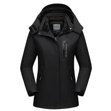 North Winter Jacket Men Plus Velvet Thick Women Coats Outdoor Sports Windproof Face Couple Hooded Clothes Plus Size 9XL 2019(China)