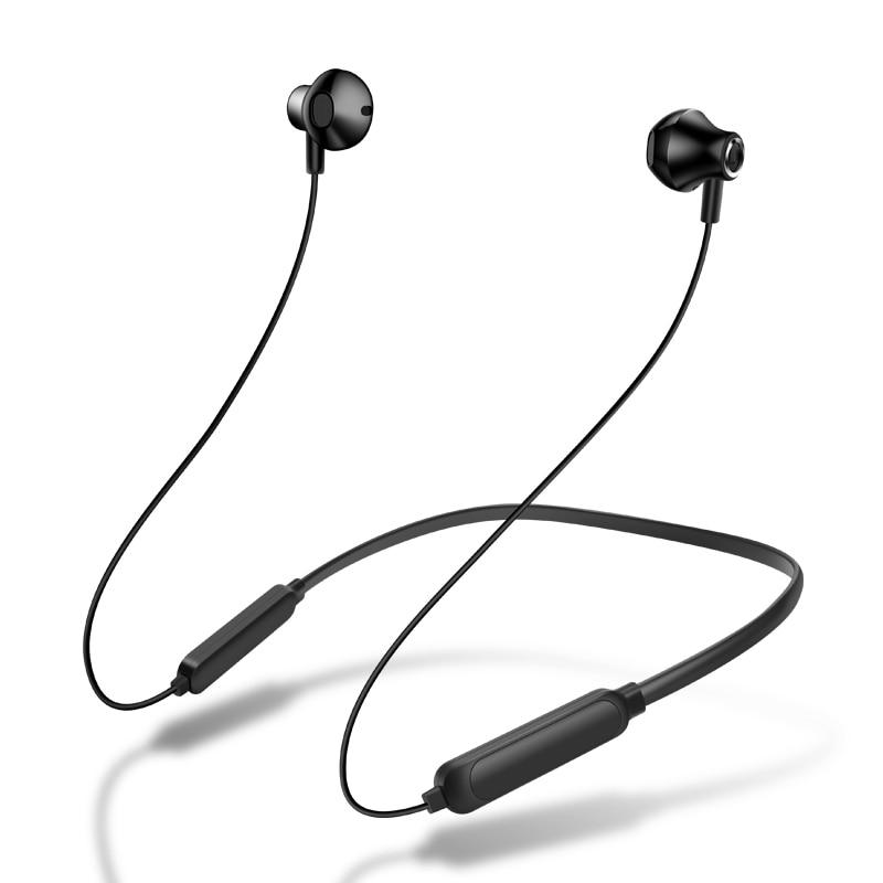 Стереогарнитура Bluetooth с шейным ремешком, беспроводные Bluetooth наушники, спортивные наушники с микрофоном для iphone 11, универсальные мобильные т...