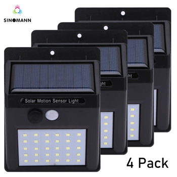30 LED Solar Power Light PIR Motion Sensor Solar Wall Lamp Outdoor Waterproof Energy Saving Garden Yard Lamps