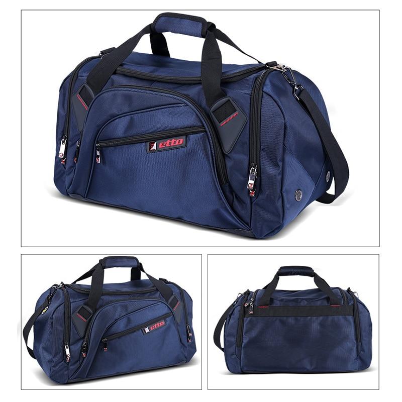 Etto Professional Large Sports Bag Gym Bag Men Women Independent Shoes Storage Training Bag Portable Shoulder