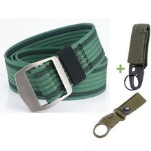 Belts AWMN for Jeans Pants Male Comfortable Canvas Adjustable Tactical-Belt Alloy-Buckle