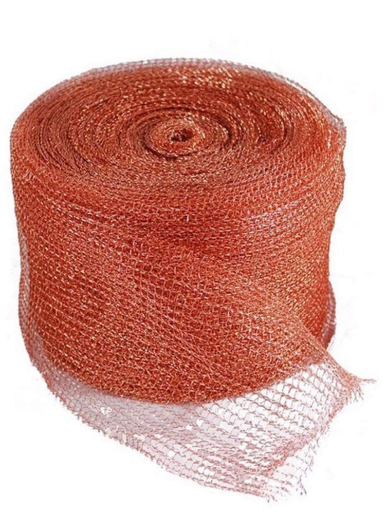 Knitted Copper Mesh For Bat/Mouse Copper Blocker Stopper Copper Mesh Scrubber, Pipeline Barrels Clean, Gap Filling Fill DIY