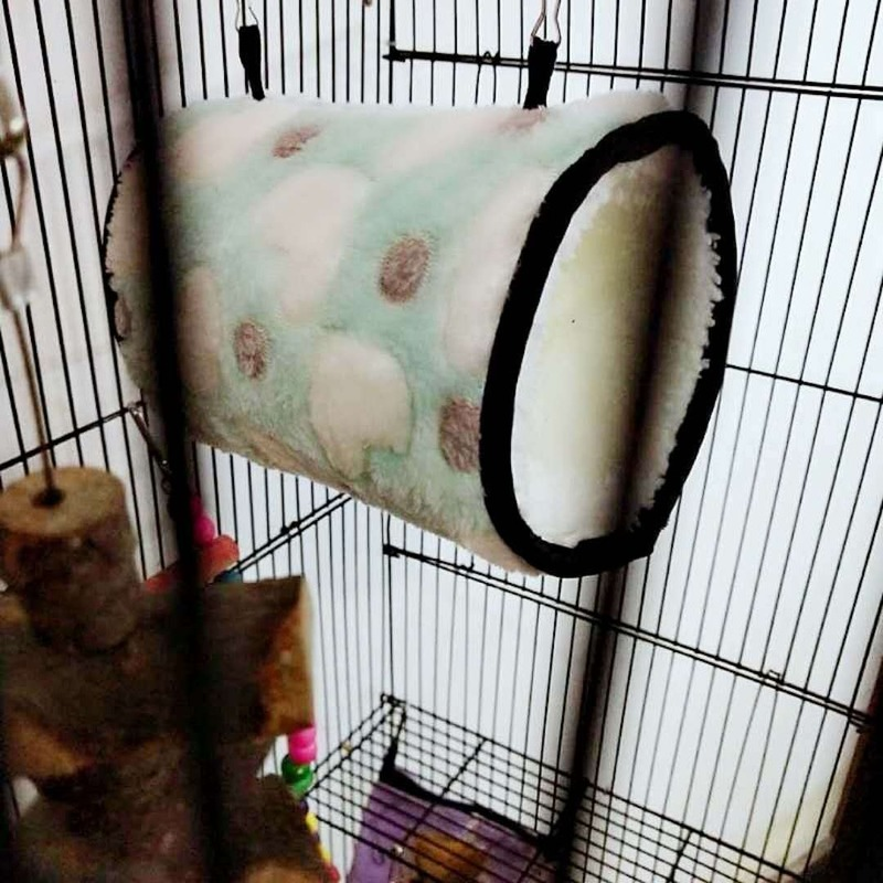 Winter Small Pet Tunnel Cages Hamster Warm Plush Cotton Hammock Squirrel Rat Swing Nest Small Animal Accessories Supplies(China)