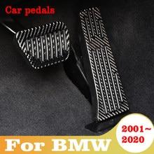 Para bmw 1 2 3 4 5 6 7 series em universal gás combustível freio apoio para os pés pedal placa almofada de fibra carbono acessórios do carro