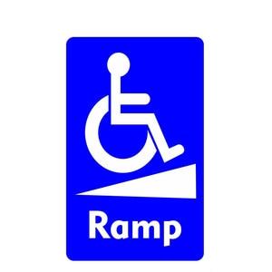 Image 1 - 휠체어 램프 통지 표지 장애인 방수 자동차 스티커 스타일링 데칼 범퍼 창 노트북 스크래치 방지 인테리어 KK15 * 9cm