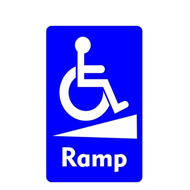 휠체어 램프 통지 표지 장애인 방수 자동차 스티커 스타일링 데칼 범퍼 창 노트북 스크래치 방지 인테리어 KK15 * 9cm