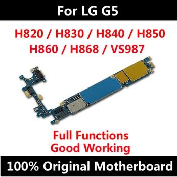Para LG G5 H820 H830 H840 H850 H860 H868 VS987 H831 placa base Original de desbloqueo de fábrica con Chips completos Android OS placa lógica