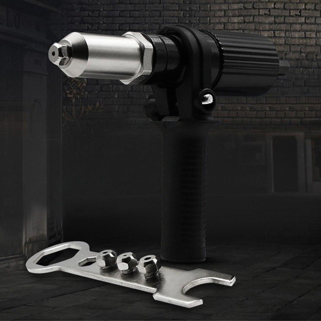 Electric Drill Insert Cordless Rivet Nut Gun Adaptor Black Riveting Drill Adaptor Power Drill Tool Kit