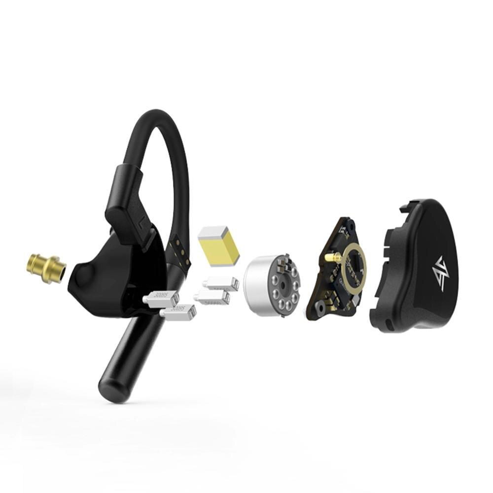 Auriculares KZ BA10 controlador de armadura equilibrada 5BA auriculares de Bajo HIFI en Monitor de oído auriculares deportivos auriculares de cancelación de ruido - 5