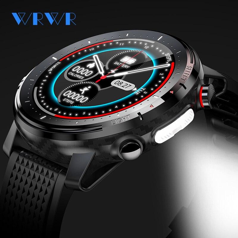 WRWR Смарт-часы 2021 ЭКГ Smartwatch IP68 из водонепроницаемого материала для мужчин и женщин Спорт Фитнес браслет часы для Android Apple Huawei SW15