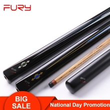 Fury Snooker Cue TS Series One Pieces 3/4 cue 10mm Kamui Tip 145cm Length Professional Ashwood Shaft with Extension