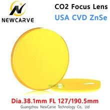 Eua cvd znse co2 lente de foco Dia-19.05mm fl127/190.5mm para máquina corte a laser co2 newcarve