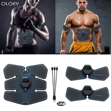 Gym Abdominal Muscle Stimulator Trainer EMS Abs Fitness Equipment Training Gear Muscles Electrostimulator Toner Exercise At Home