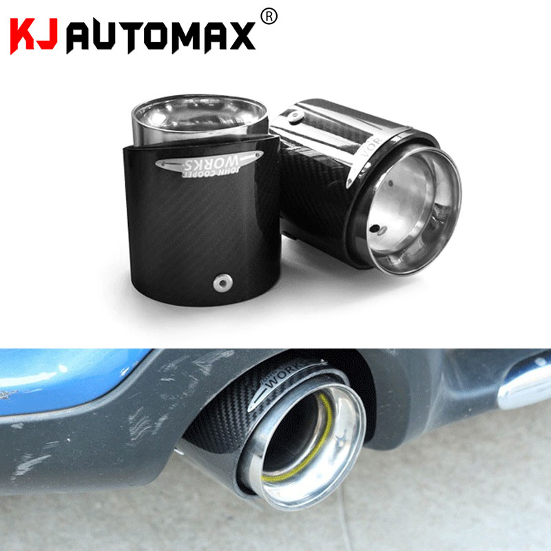 KJAUTOMAX For Mini Cooper R55 R56 R60 R61 F54 F55 F56 Exhaust Pipe Decoration Carbon Fibre