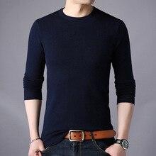 무료 배송 새로운 패션 2020 봄 가을 남성 양모 풀오버 남자 스웨터 풀 오버