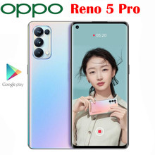 Neue Offizielle Original OPPO Reno 5 Pro 5G Smartphone Dimensity 1000 + 6,55 inch OLED 64MP Kamera 4350Mah 65W Super VOOC Android 11