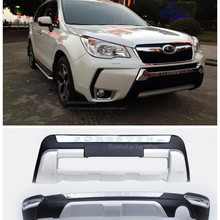 ABS передний+ задний бампер Защитная крышка противоскользящая пластина подходит для Subaru Forester 2013
