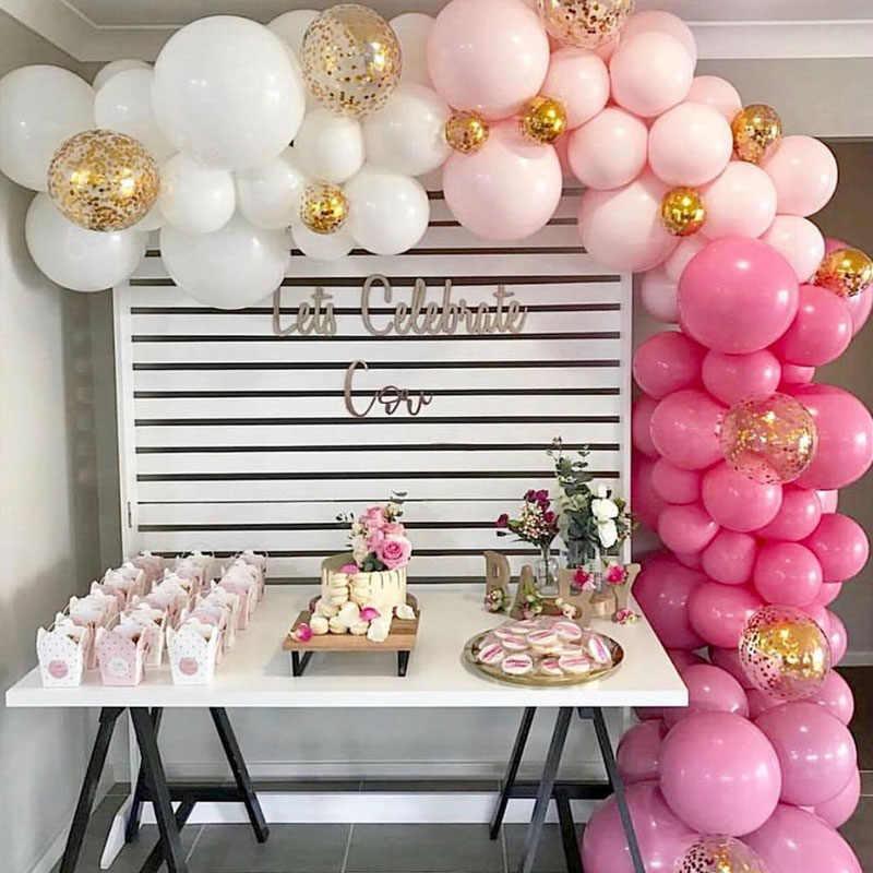 50 adet 20 adet pembe renk Macaron balonlar doğum günü partisi 2.2g Pastel balonlar hava helyum Deco doğum günü bebek duş erkek kız S6XN