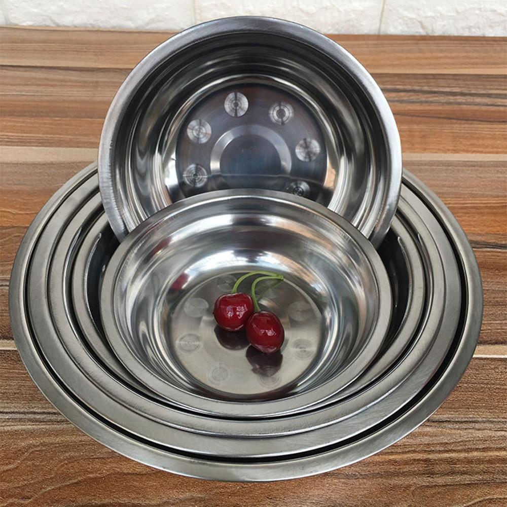 1PC 6 Sizes 14-24cm Stainless Steel mixing Bowl for Kitchen boll Restaurant Dinner Soup Stainless Rice Bowl bol inox Korean new