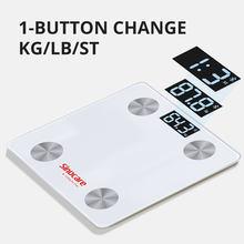 Bilancia per grasso corporeo Bluetooth bilancia BMI bilancia elettronica intelligente s LED bilancia pesapersone digitale per bagno bilancia analizzatore di composizione corporea