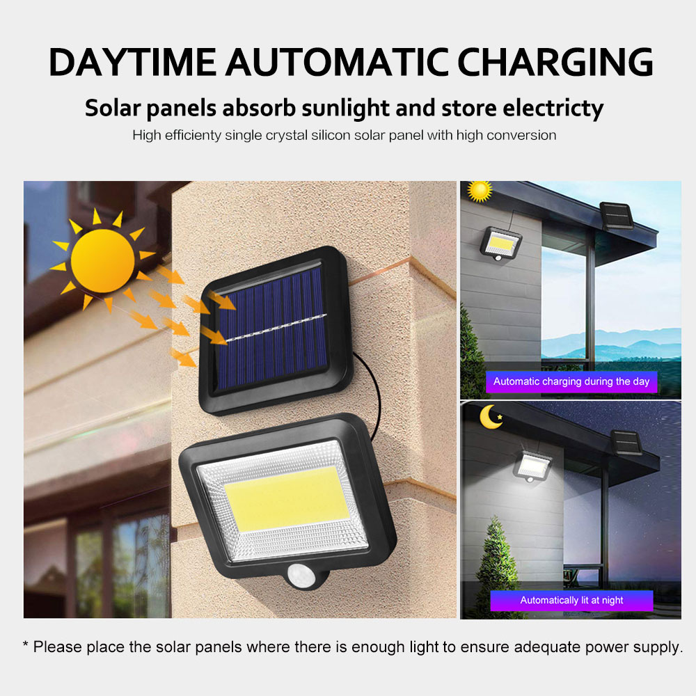 cheapest 102 100 LED Solar Powered Light 3 Modes PIR Motion Sensor Solar Wall Lamp Outdoor Waterproof Garden Yard Security Lights
