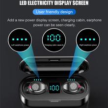 Levana F9 Bluetooth V5 0 Oortelefoon 9D Stereo Draadloze Hoofdtelefoon Sport Waterdichte Oordopjes Mini True Headsets Voor Mobiele Telefoon cheap In-Ear RoHS Dynamische Cn (Oorsprong) wireless 100dB voor internet bar voor video game gemeenschappelijke hoofdtelefoon