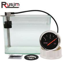 0-190ohm Wasser Level Sensor + 52MM Wasser Level Gauge 100mm 125mm 150mm 225mm 275mm 300mm Kraftstoff Sender Einheit Für Auto Boot 12V/24V