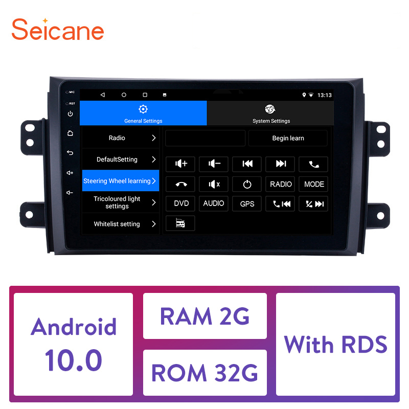 Seicane GPS Autoradio HD Touchscreen Car Radio Audio <font><b>Android</b></font> 10.0 for 2006 2007 <font><b>2008</b></font> 2009-2012 <font><b>Suzuki</b></font> <font><b>SX4</b></font> support Carplay DAB+ image