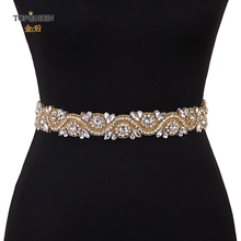 TOPQUEEN S164 G or diamant ceinture robe de mariée ceinture or demoiselle dhonneur ceinture strass ceinture Champagne mariée ceinture rodéo ceintures