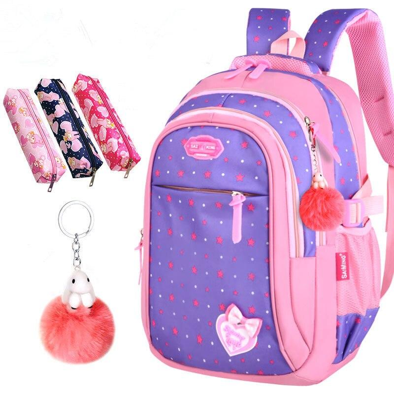 Image 3 - 2020 New Hot Sale School Bags children backpacks Large Capacity Student Bag Simple Splash proof Backpack Sweet Print BackpackSchool Bags   -