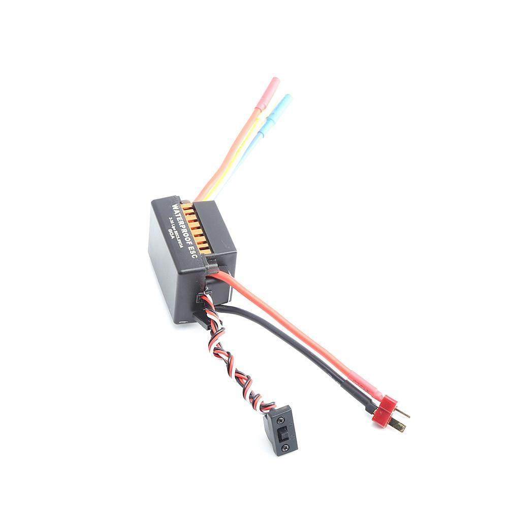 Brak Rc wodoodporny 3650 3900KV RC bezszczotkowy silnik 60A ESC programator do zestawu 1/10 RC samochód silnik ciężarówki