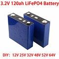 4 шт. 3,2 В 120ah LiFePO4 аккумулятор 12 в 24 в 36 в 48 в 64 в глубокий цикл LFP литий-железо фосфат литиевая батарея солнечная RV EV морская