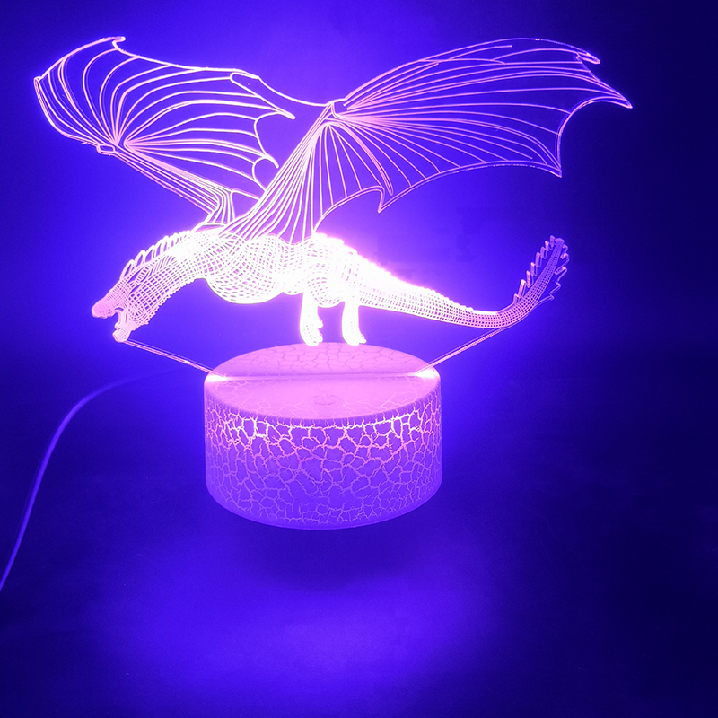 3D Lamp Game Of Thrones Dragon Touch Sensor The Alarm Clock Base Atmosphere Pretty Gift Battery Powered Usb Led Night Light Lamp