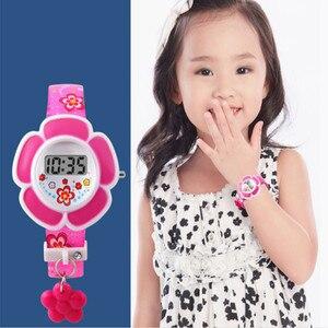 Fashion Kids Watches Flower Cute Children Watches Cartoon Silicone Digital Wristwatch For Boys Girls Wrist Watches Party Gift
