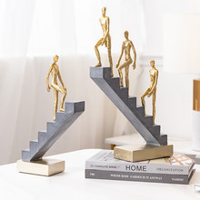 Nordic modern interior design ornaments creative statues living room bedroom home decoration accessories abstract figurines desk