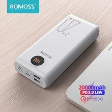 ROMOSS SW20PS + batterie d'alimentation 20000 mAh USB C rapide 20000 mAh Powerbank chargeur de batterie externe Portable pour Xiaomi Mi iPhone Huawei
