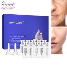 OMYLADY 10pcs Serum Moisturizing Hyaluronic Acid Vitamins Facial moisturizing Anti Wrinkle Aging Collagen Skin Care Essence 99% cosmetic hyaluronic acid powder pure hyaluronan skin anti aging wrinkle joint serum 100grams