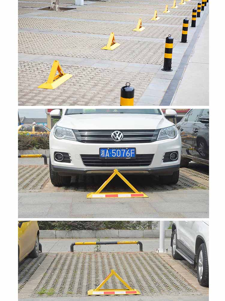 Manual Parking Lock Movable Column Buffer Column Protection Pile Mobile Road Parking Space Ground Lock Pile Parking Space