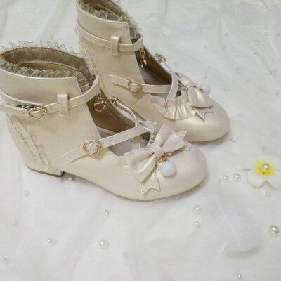 Фото японские милые туфли с ремешками в стиле «лолита» винтажном