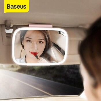Baseus LED Auto Innen Spiegel 4K Silber Überzogene Spiegel 8,3 Zoll Große Auto Dimmen Rückansicht Rück Make Up Kosmetische spiegel-in Innenspiegel aus Kraftfahrzeuge und Motorräder bei