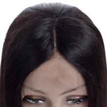 Бразильские человеческие волосы, фронтальные волосы Remy 13x4, фронтальные прямые волосы 4x4, предварительно выщипанные Детские волосы для пари...
